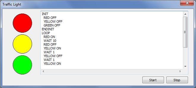 Скриншот программы TrafficLight